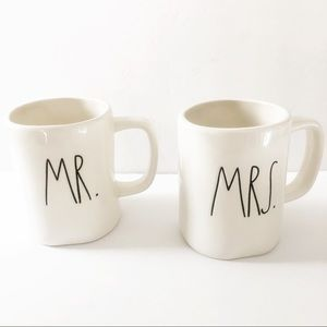 Rae Dunn Artisan Collection Mr. & Mrs. Coffee Mugs
